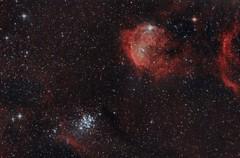 NGC3293 y Gabriela Mistral